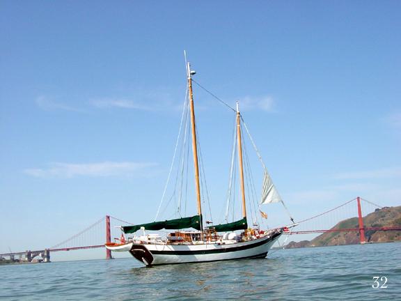 Salty dog a william garden designed west coast fore and for 68 garden design gaff rigged schooner
